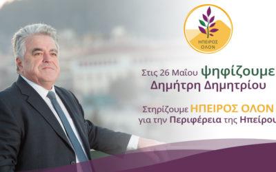 Συνέντευξη του Υποψήφιου Περιφερειάρχη Ηπείρου κ. Δημητρίου στο Prisma 91.6